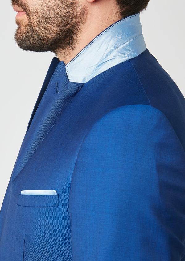 Costume 2 pièces Slim en laine unie bleue - Father and Sons 27591