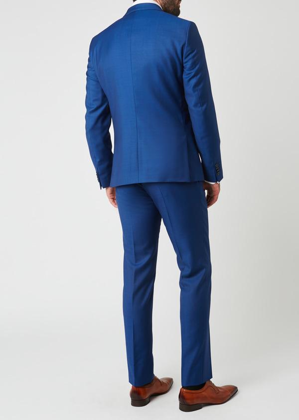 Costume 2 pièces Slim en laine unie bleue - Father and Sons 27590