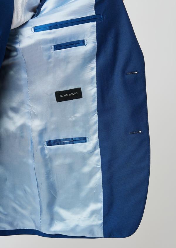 Costume 2 pièces Slim en laine unie bleue - Father and Sons 27593