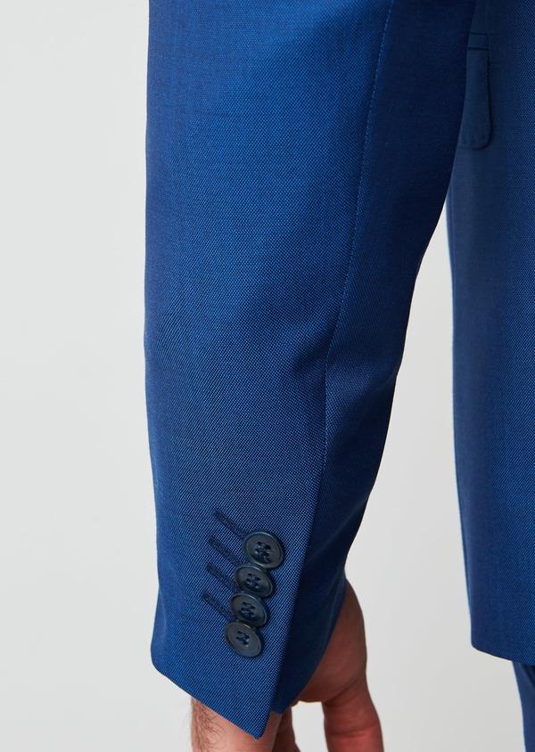 Costume 2 pièces Slim en laine unie bleue - Father and Sons 27592