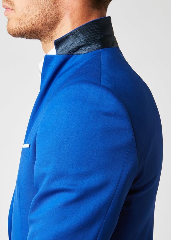 Costume 2 pièces Slim en laine unie bleu roi - Father and Sons 37356
