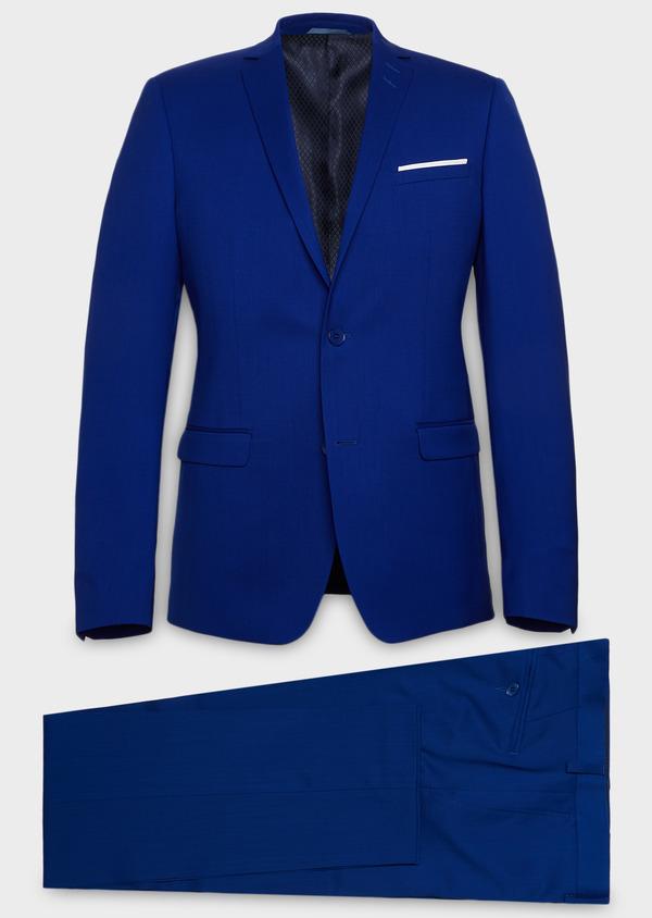 Costume 2 pièces Slim en laine unie bleu roi - Father and Sons 37355