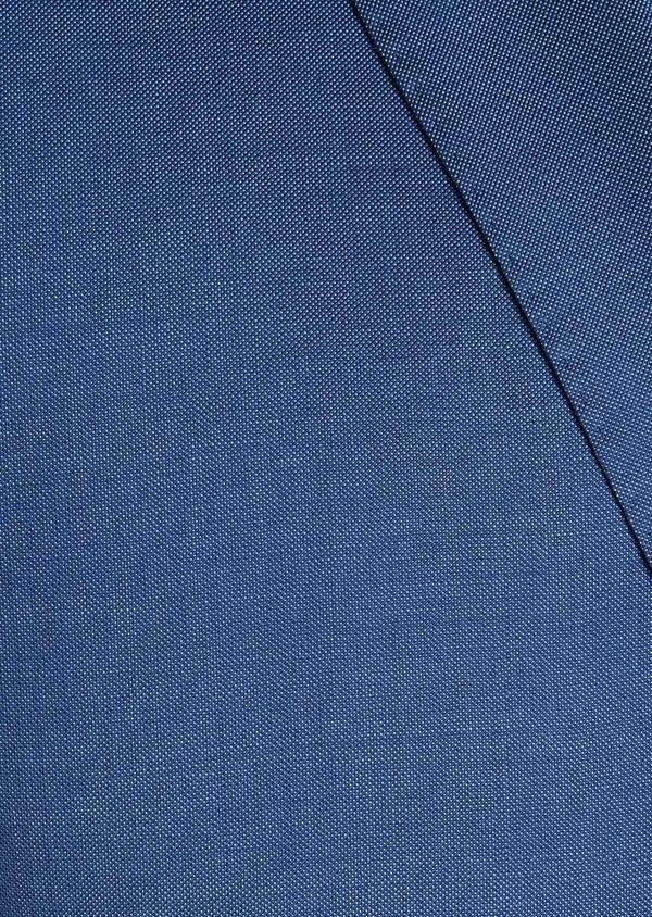 Costume 2 pièces Slim en laine fil-à-fil unie bleue - Father and Sons 31224