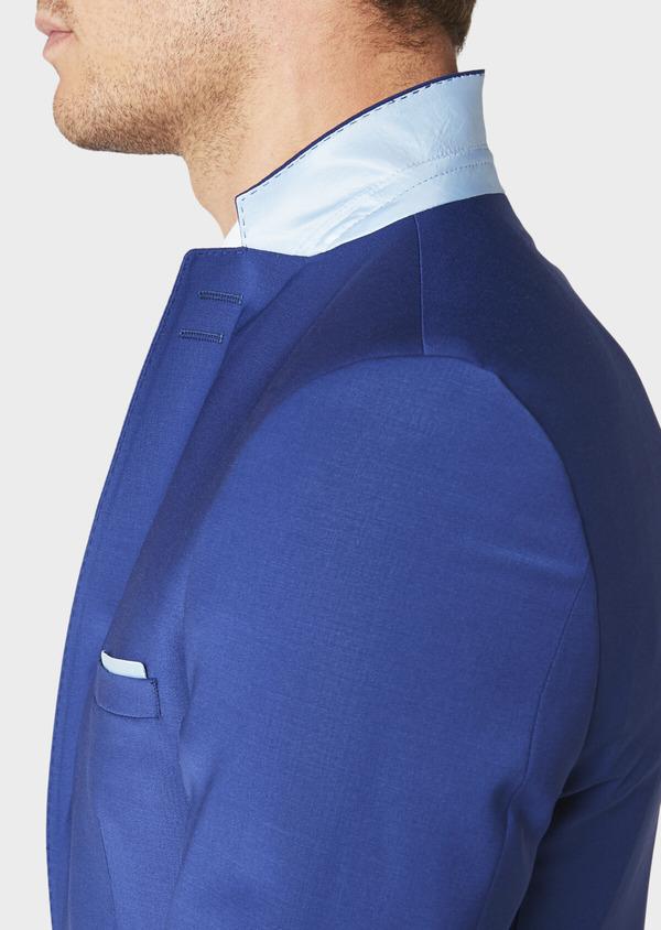 Costume 2 pièces Slim en laine mélangée unie bleue - Father and Sons 31020