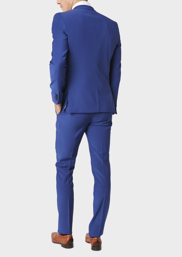 Costume 2 pièces Slim en laine mélangée unie bleue - Father and Sons 31019