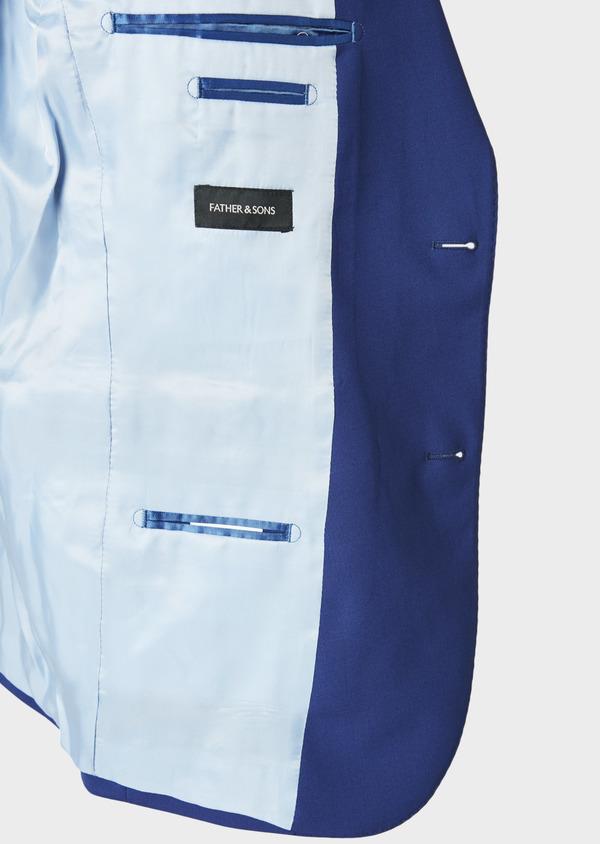 Costume 2 pièces Slim en laine mélangée unie bleue - Father and Sons 31022