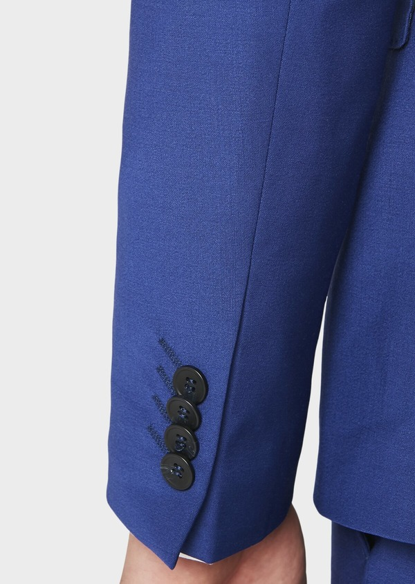 Costume 2 pièces Slim en laine mélangée unie bleue - Father and Sons 31021