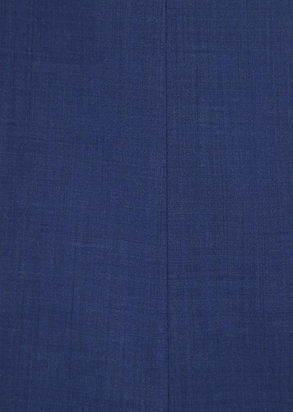 Costume 2 pièces Slim en laine stretch naturelle unie bleue - Father and Sons 35976