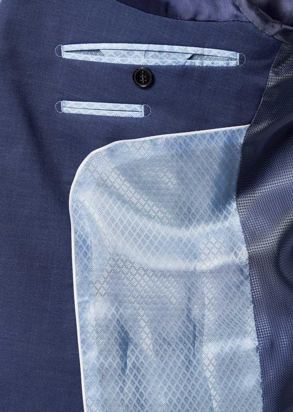 Costume 2 pièces Slim en laine stretch naturelle unie bleue - Father and Sons 35981