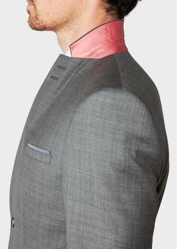 Costume 2 pièces Slim en laine unie grise - Father and Sons 31488