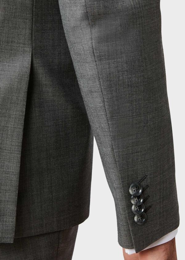 Costume 2 pièces Slim en laine unie grise - Father and Sons 31489