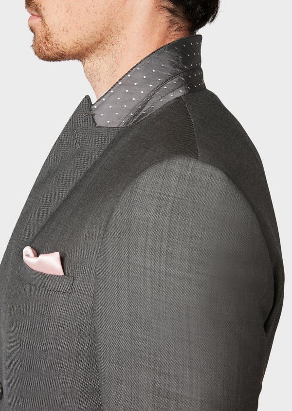 Costume 2 pièces Slim en laine unie gris clair - Father and Sons 31501