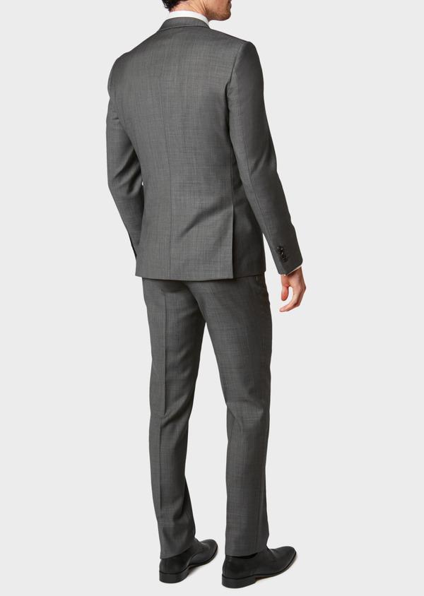 Costume 2 pièces Slim en laine unie gris clair - Father and Sons 31500