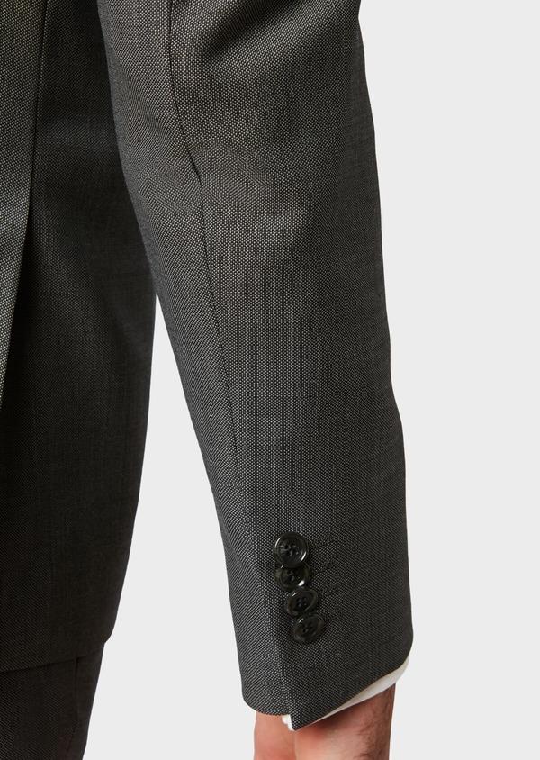 Costume 2 pièces Slim en laine unie gris clair - Father and Sons 31502