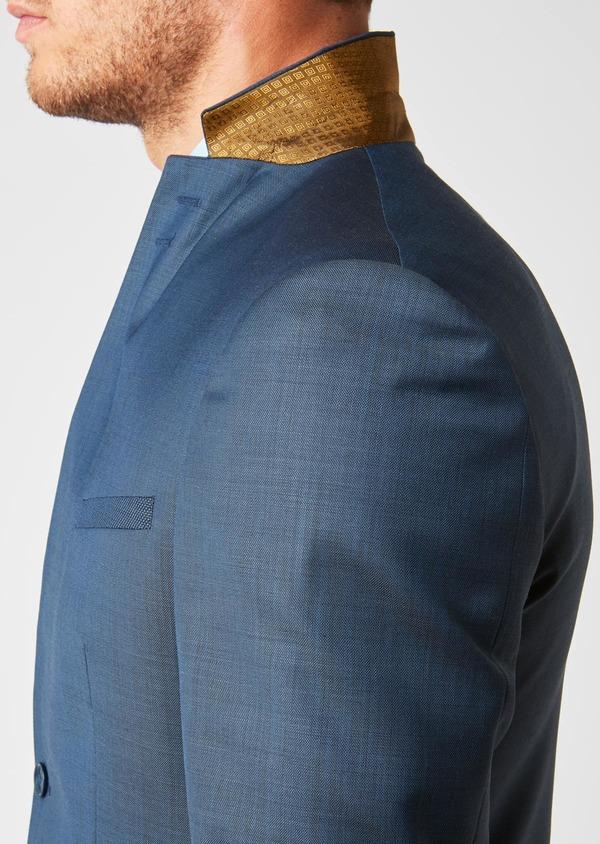 Costume 2 pièces Slim en laine unie bleu indigo - Father and Sons 26425