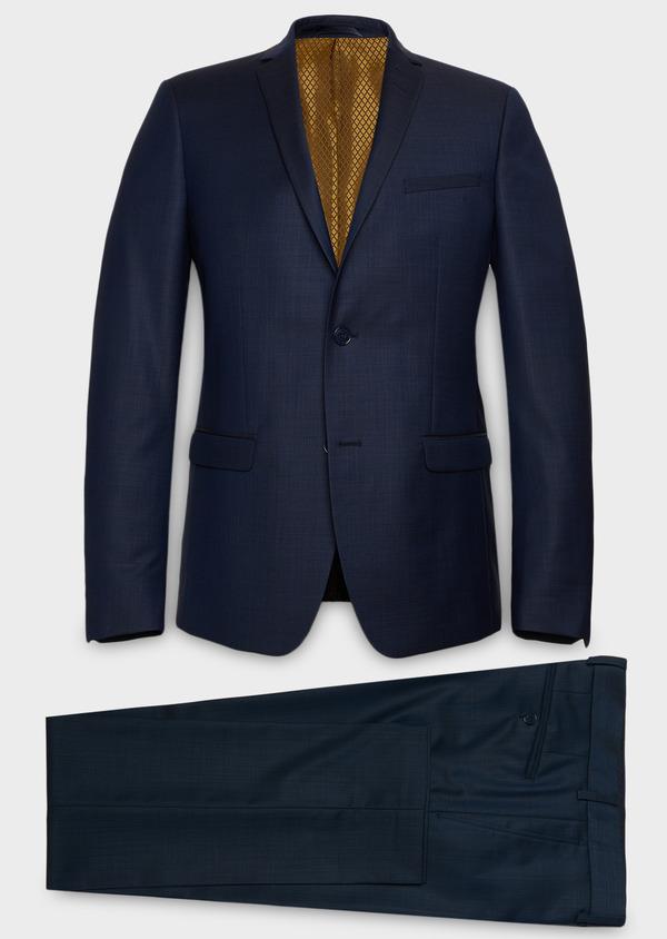 Costume 2 pièces Slim en laine unie bleu indigo - Father and Sons 26421