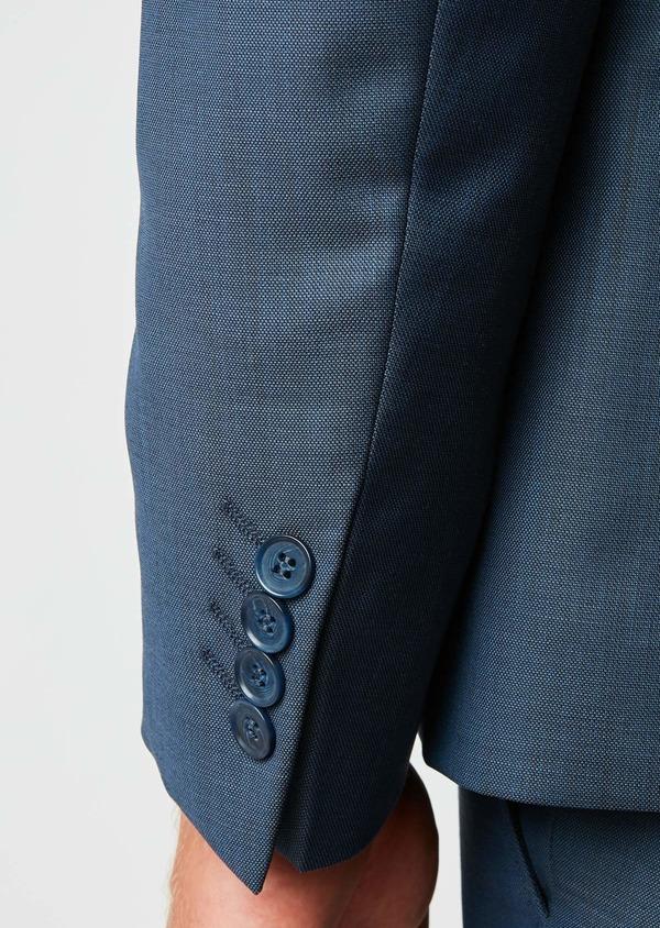 Costume 2 pièces Slim en laine unie bleu indigo - Father and Sons 26426