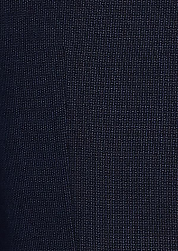 Costume 2 pièces Slim en laine façonnée unie bleu chambray - Father and Sons 26432