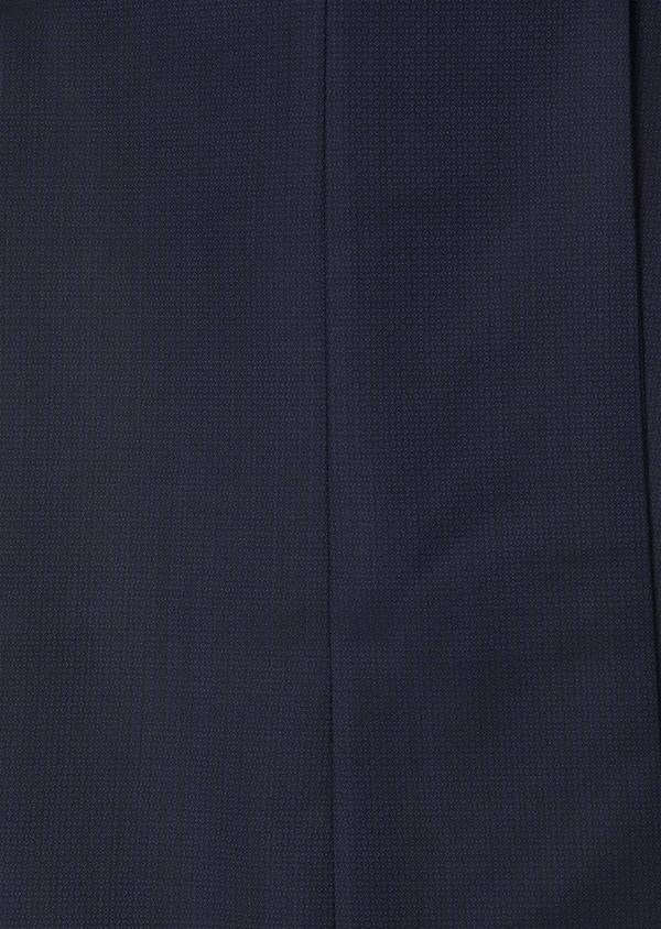Costume 2 pièces Regular en laine façonnée unie bleu indigo - Father and Sons 31148