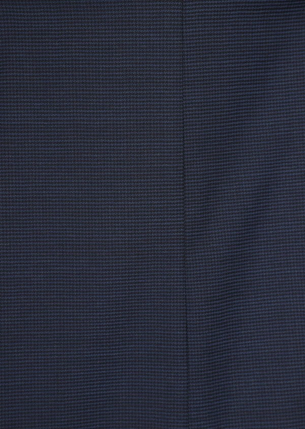 Costume 2 pièces Slim en laine unie stretch bleu marine - Father and Sons 35963