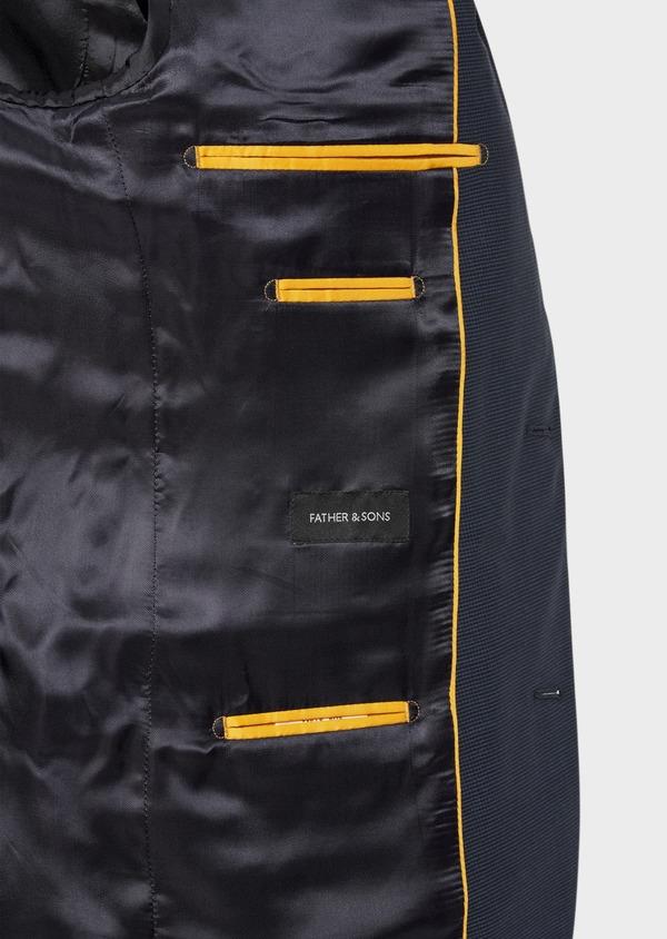 Costume 2 pièces Slim en laine unie stretch bleu marine - Father and Sons 35968