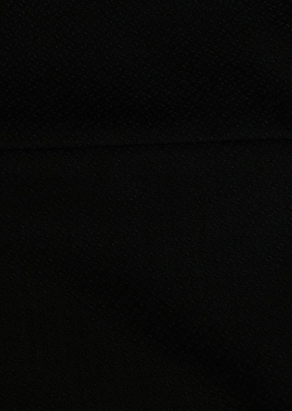 Costume 2 pièces Slim en laine façonnée unie noire - Father and Sons 26353