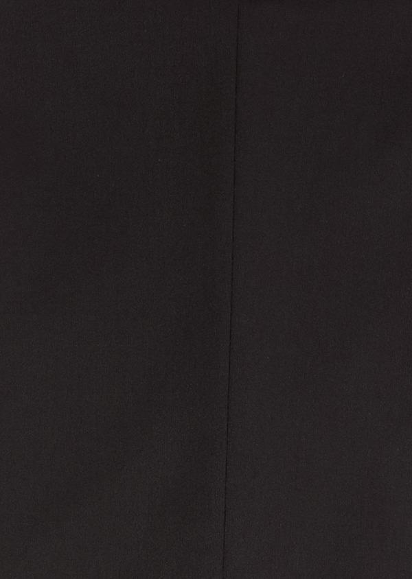 Costume 2 pièces Slim en laine façonnée unie noire - Father and Sons 31472