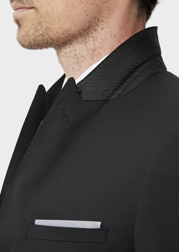 Costume 2 pièces Slim en laine mélangée stretch unie noire - Father and Sons 35085