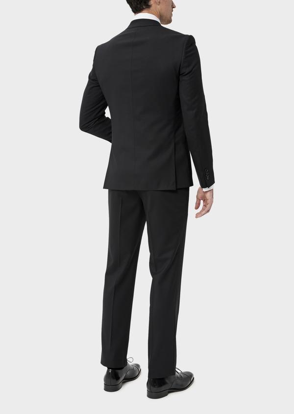 Costume 2 pièces Slim en laine mélangée stretch unie noire - Father and Sons 35084