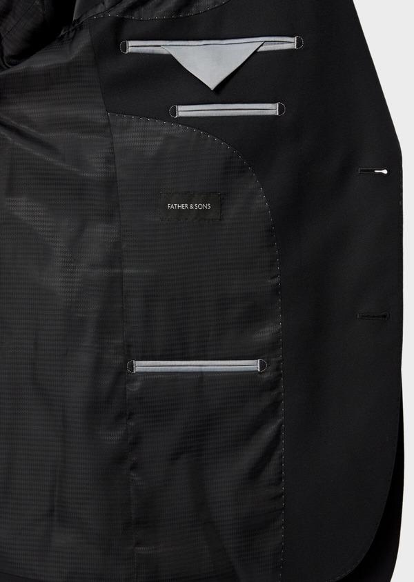 Costume 2 pièces Slim en laine mélangée stretch unie noire - Father and Sons 35087