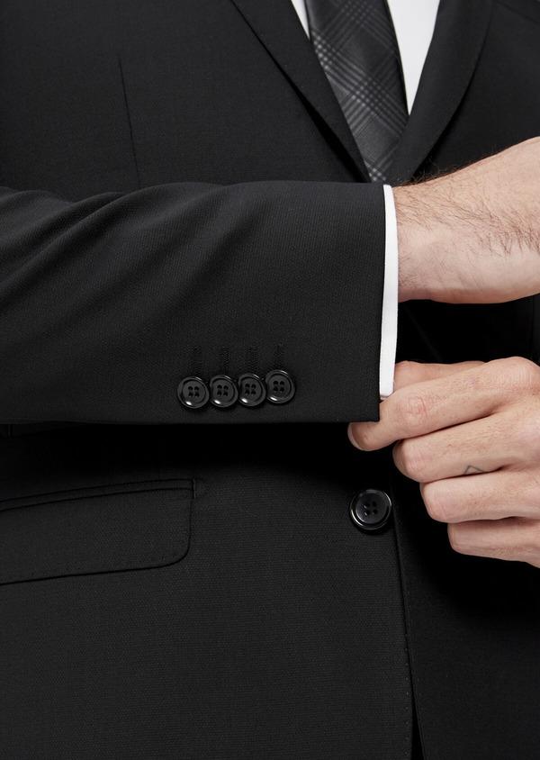 Costume 2 pièces Slim en laine mélangée stretch unie noire - Father and Sons 35086