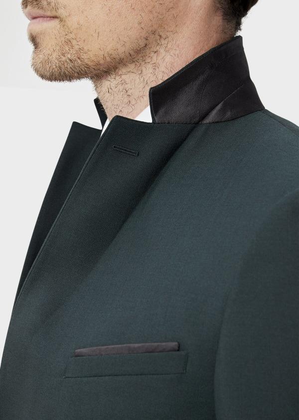Costume 2 pièces Slim en laine stretch naturelle unie verte - Father and Sons 35006