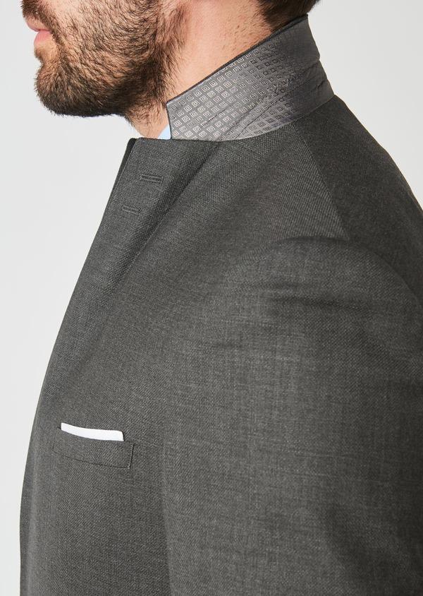 Costume de voyage 2 pièces Slim en laine unie grise - Father and Sons 28334