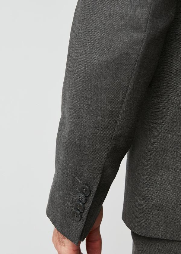 Costume de voyage 2 pièces Slim en laine unie grise - Father and Sons 28335