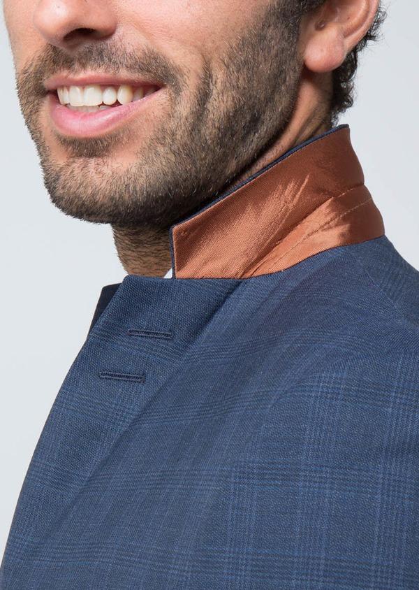 Costume 2 pièces Slim en laine mélangée bleu indigo Prince de Galles - Father and Sons 28985