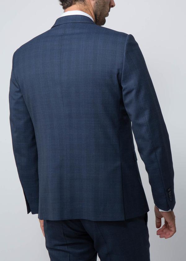 Costume 2 pièces Slim en laine mélangée bleu indigo Prince de Galles - Father and Sons 28984