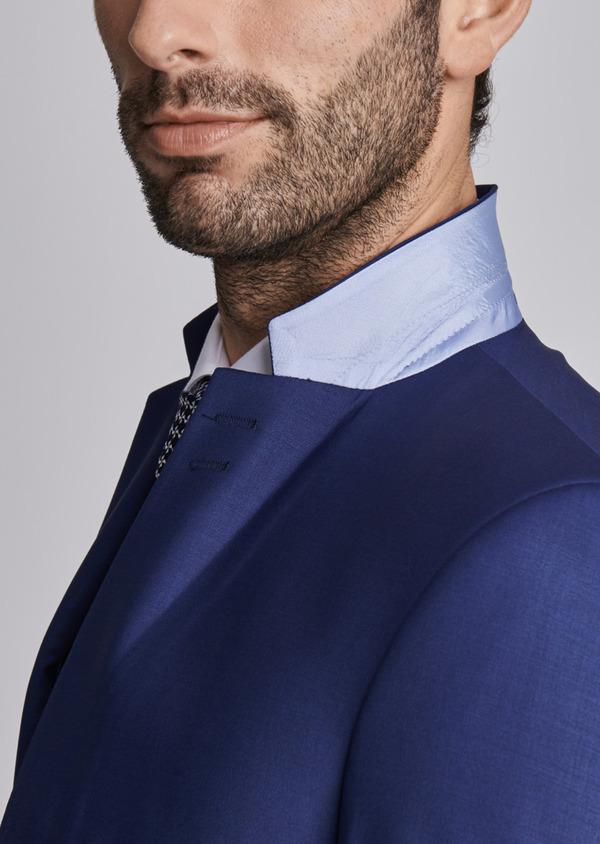 Costume 2 pièces Slim en laine mélangée unie bleu nuit - Father and Sons 29073