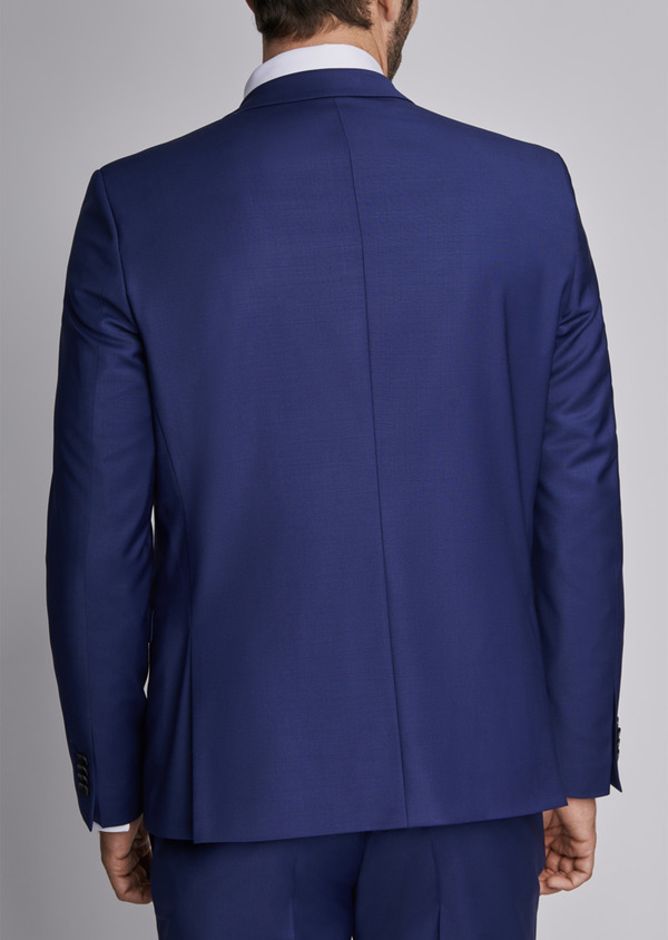 Costume 2 pièces Slim en laine mélangée unie bleu nuit - Father and Sons 29072