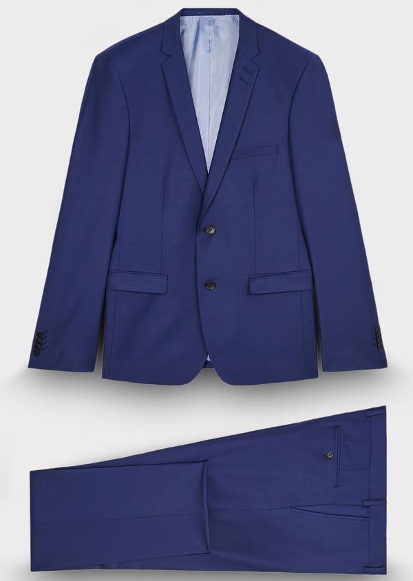 Costume 2 pièces Slim en laine mélangée unie bleu nuit - Father and Sons 29070