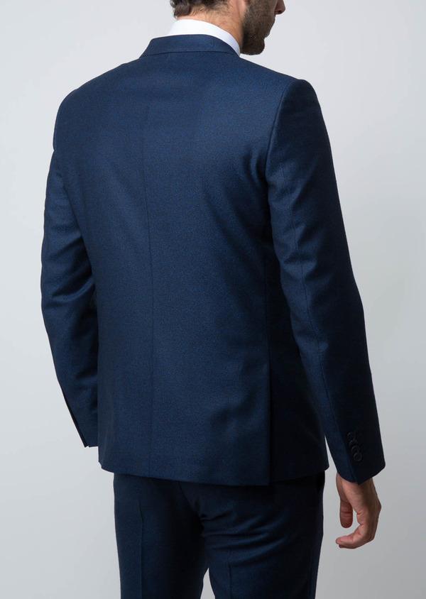Costume 2 pièces Slim en laine unie bleu cobalt - Father and Sons 28960