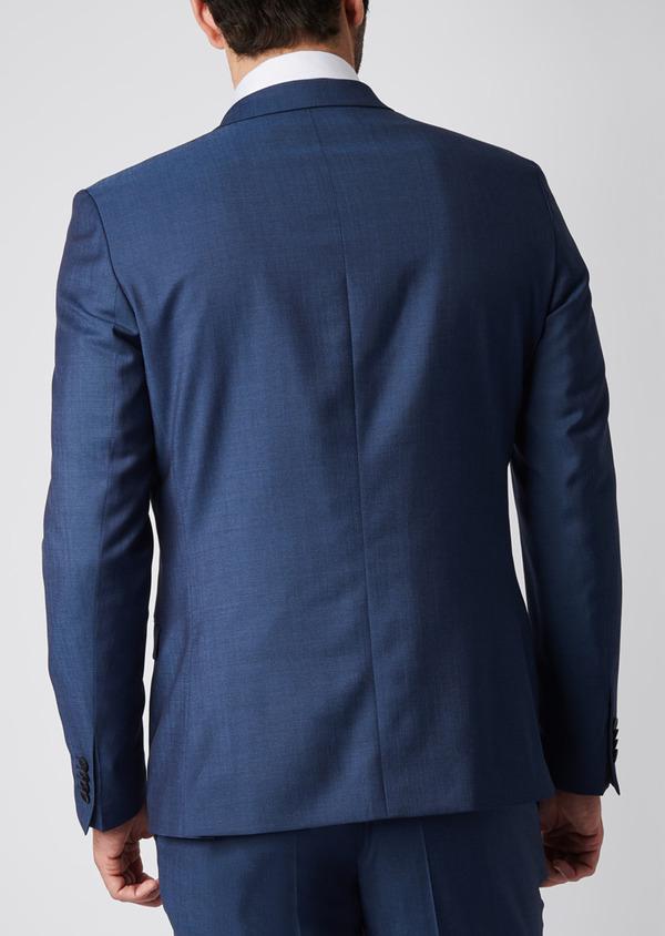 Costume 2 pièces Slim en twill de laine unie bleu - Father and Sons 29088
