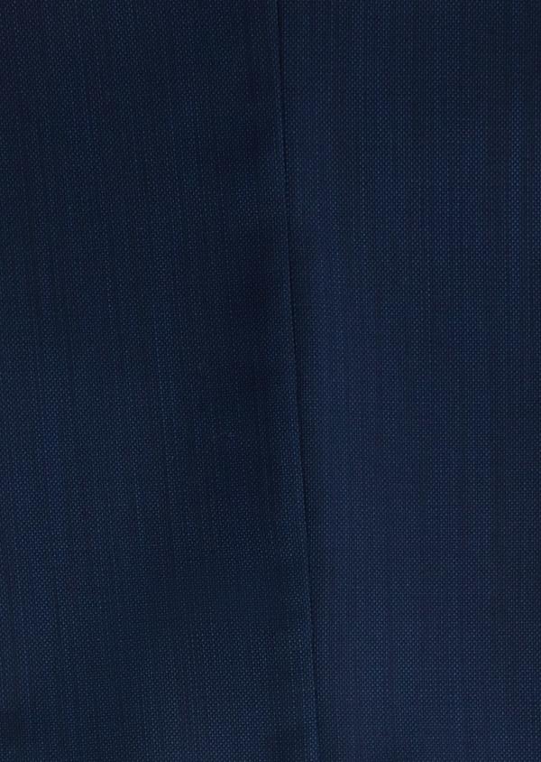 Costume 2 pièces Slim en laine nattée unie bleu indigo - Father and Sons 20124