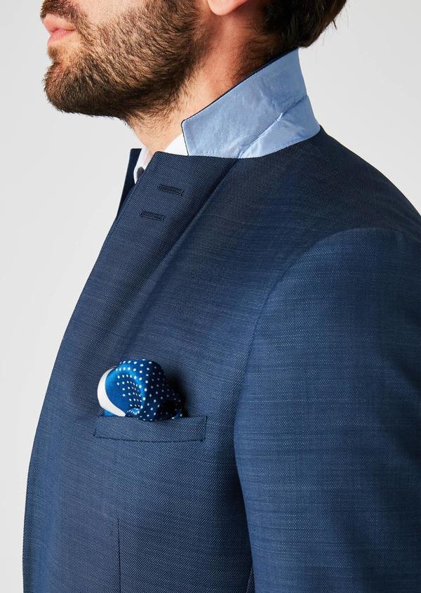 Costume 2 pièces Slim en laine texturée bleu indigo - Father and Sons 20147