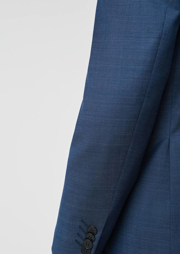 Costume 2 pièces Slim en laine texturée bleu indigo - Father and Sons 20148