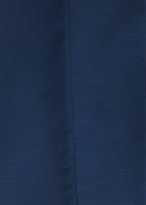 Costume 2 pièces Slim en laine façonnée unie bleu indigo - Father and Sons 20154