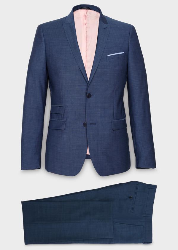 Costume 2 pièces Slim en laine bleu indigo - Father and Sons 20163