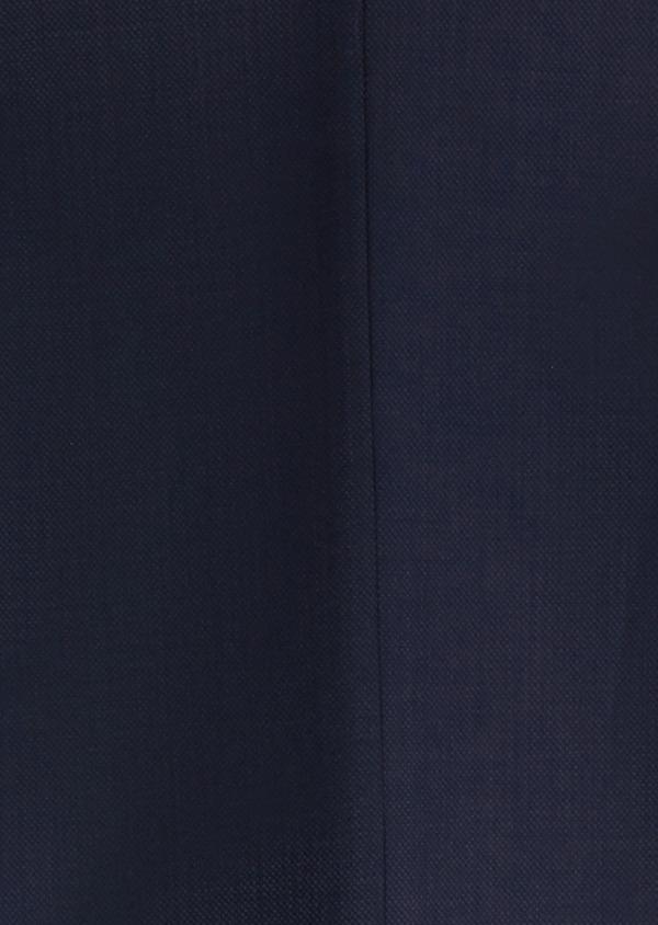 Costume 2 pièces Slim en laine faconnee unie bleu marine - Father and Sons 20134