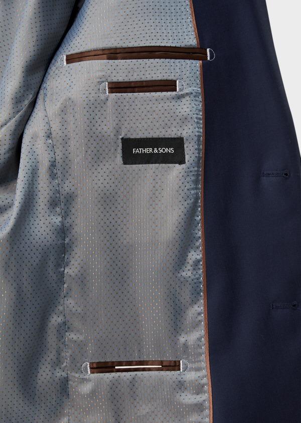 Costume 2 pièces Slim en laine unie bleu indigo - Father and Sons 35738