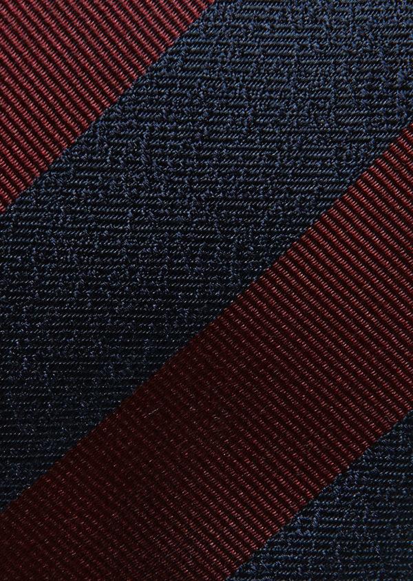 Cravate fine en soie bordeaux à motif fantaisie - Father and Sons 26647