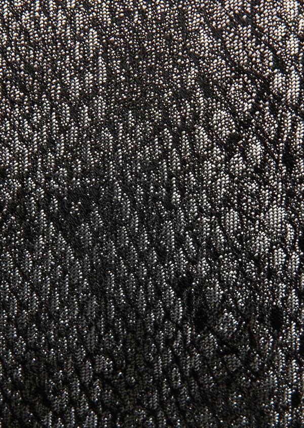 Cravate fine en soie grise foncée à motif fantaisie ton sur ton - Father and Sons 26623